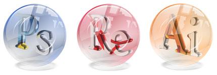 水晶球风格Adobe图标