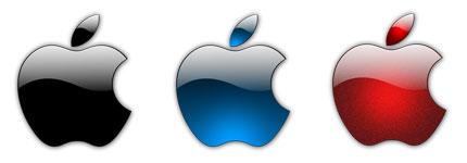水晶风格苹果logo图标