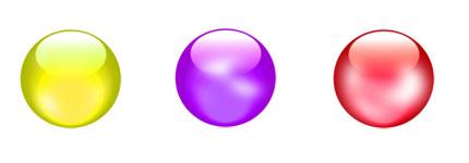 多色彩水晶球元素图标