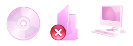 粉红色文件夹内容图标