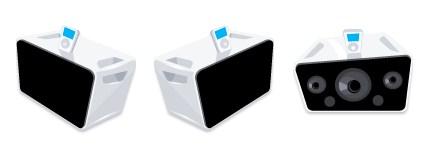 高保真iPod音箱图标