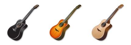 5个吉他图标