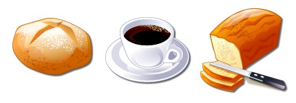 咖啡面包图标
