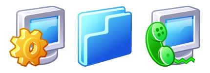 立体显示器与文件夹图标