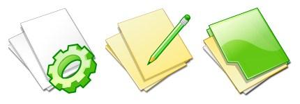 绿色记事本文件夹图标