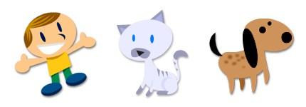 有趣-猫狗简易图标图片